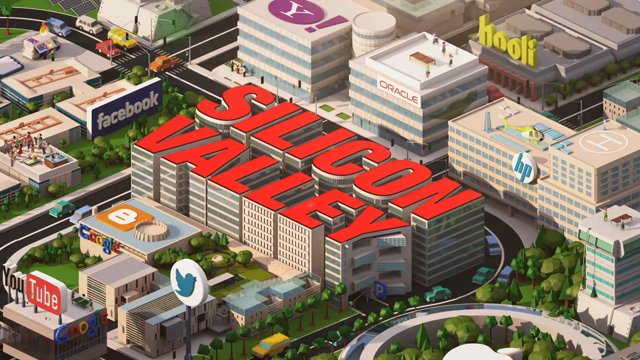 Silicon Valley image source:  Wikipedia/HBO